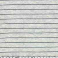 Jersey rayé lurex fond écru 20 x 140 cm