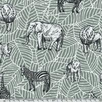 Tissu Safari vert de gris 20 x 140 cm