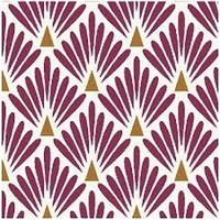 Tissu enduit écailles coloris prune et doré 20 x 150 cm