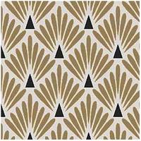 Tissu enduit écailles coloris doré et noir 20 x 150 cm