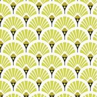 Tissu enduit éventails coloris jaune et doré 20 x 150 cm
