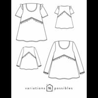 Patron blouse Virevolte (34-48)