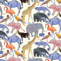 Jersey Liberty Queue for Zoo coloris B 20 x 140 cm