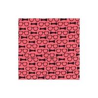DERNIER COUPON Tissu lunettes et Noeud papillon losing face fond corail 1m x 110 cm