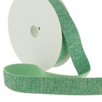 Elastique lurex 20mm vert turquoise x10cm
