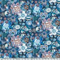 Liberty Gatsby Small Garden bleu coloris C 20 x 137 cm