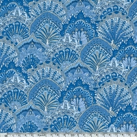 Liberty Peacock Parade bleu coloris B 20 x 137 cm