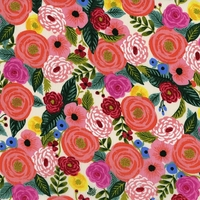 Viscose Rifle Paper English Garden Juliet Rose (cream) 20 x 110 cm