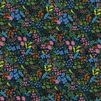 Tissu Rifle Paper English Garden Meadow (navy) 20 x 110 cm