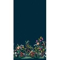 COUPON Tissu Rifle Paper English Garden Frise Growing Garden (navy) 47 x 110 cm