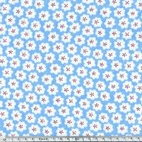 Coton fleur pop coloris bleu 20 x 140 cm
