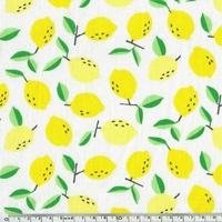 Popeline citrons 20 x 140 cm