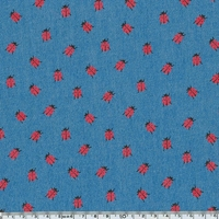 Chambray coccinelles  20 x 140 cm