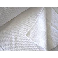 Tissu Nid d'abeille doublé éponge blanc 20 x 140 cm
