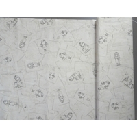 Tissu Gorjuss Letters from the heart Notepad sketches 20 x 110 cm