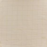 DERNIER COUPON gaze lisse carreaux argent fond nude 55 x 140 cm