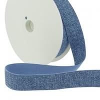 Elastique lurex 20mm bleu x10cm
