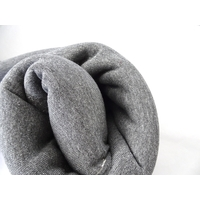 COUPON Molleton à paillettes coloris gris moyen 84 x 140 cm