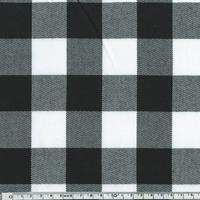 Tissu Tartan damier noir et blanc 20 x 140 cm