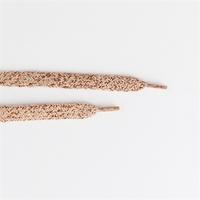 Paire de lacets coloris Cuivre et lurex