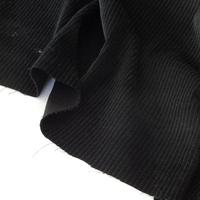 Velours grosses côtes noir 20 x 140 cm