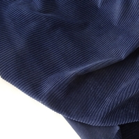 COUPON velours grosses côtes coloris marine 37 x 140 cm