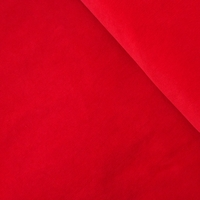 Velours milleraies stretch rouge 20 x 140 cm