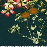 Crêpe lisse Simone fond vert anglais 20 x 10 cm