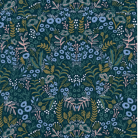 Viscose Rifle Paper Ménagerie Tapestry Navy 20 x 110 cm