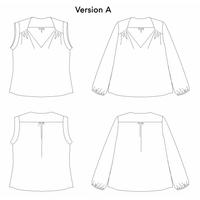 Patron blouse/robe Suun (du 34 au 52)