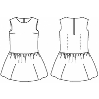 Patron blouse/robe Mademoiselle babydoll (du 34 au 52)