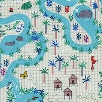 Tissu Lagoon 20 x 110 cm