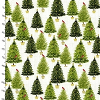 Tissu Holiday Joy Sapins 20 x 110 cm