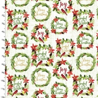 Tissu Holiday Joy Couronnes 20 x 110 cm