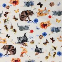 Tissu Chats rétro 20 x 110 cm