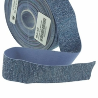 Elastique lurex bleu 40mm x 10cm