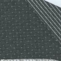 Molleton double-face gris foncé et argent 20 x 140 cm