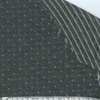 Molleton double-face gris foncé et doré clair 20 x 140 cm