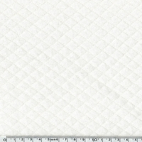 COUPON de Jersey matelassé blanc 28 x 150 cm