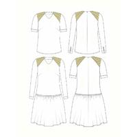Patron Blouse et robe 8 mars femme (du 34 au 46)