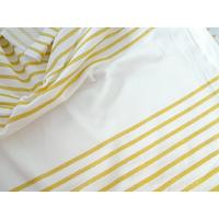 Panneau jersey marinière jaune/doré et blanc 60 x 140 cm