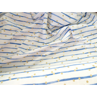 "Jersey double ""Arty"" bleu pois or 20 x 140 cm"