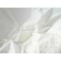 Jersey blanc petits pois argent 20 x 150 cm
