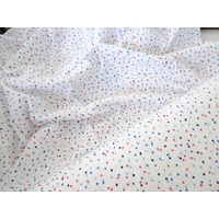 Jersey blanc à pois 20 x 160 cm