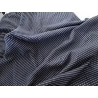 Jersey marine fine rayure blanche 20 x 135 cm