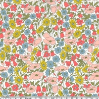 Liberty Poppy and Daisy pastel pop coloris A 20 x 137 cm
