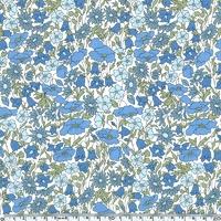 Liberty Poppy and Daisy bleu et vert coloris B 20 x 137 cm