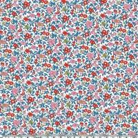 Liberty Chamomille bleu et rouge coloris A 20 x 137 cm