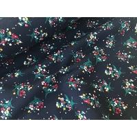 Jersey matelassé marine bouquets 20 x 135 cm