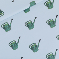 Gabardine Twill Watering Cans coloris fog blue 20 x 140 cm